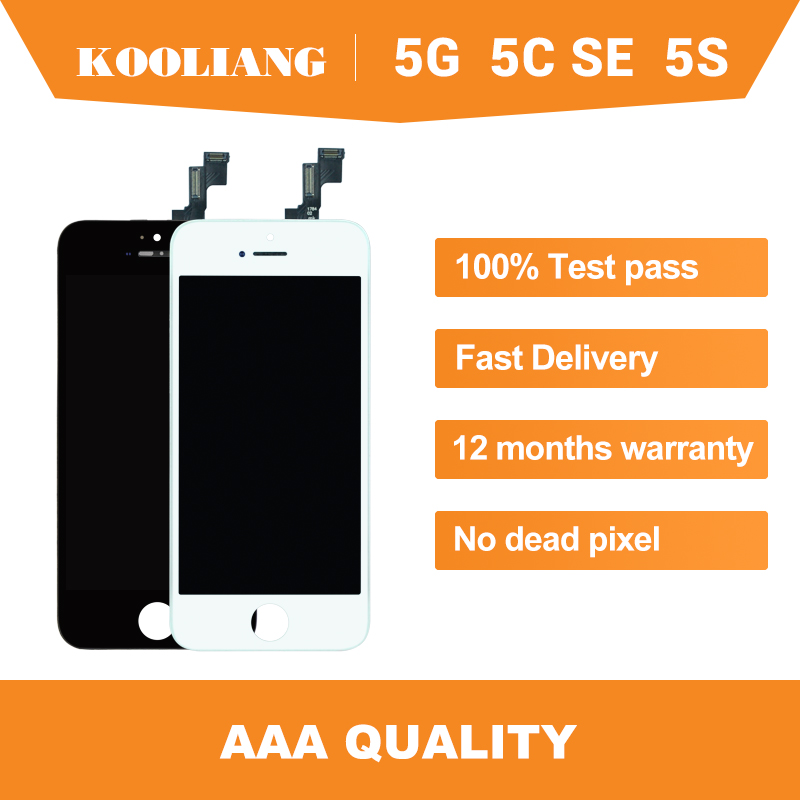 On Russian warehouse AAA <font><b>Original</b></font> +++ ekran For <font><b>iPhone</b></font> 5 <font><b>5S</b></font> SE 5C <font><b>LCD</b></font> Display Screen Touch Digitizer Full Assembly Black White image