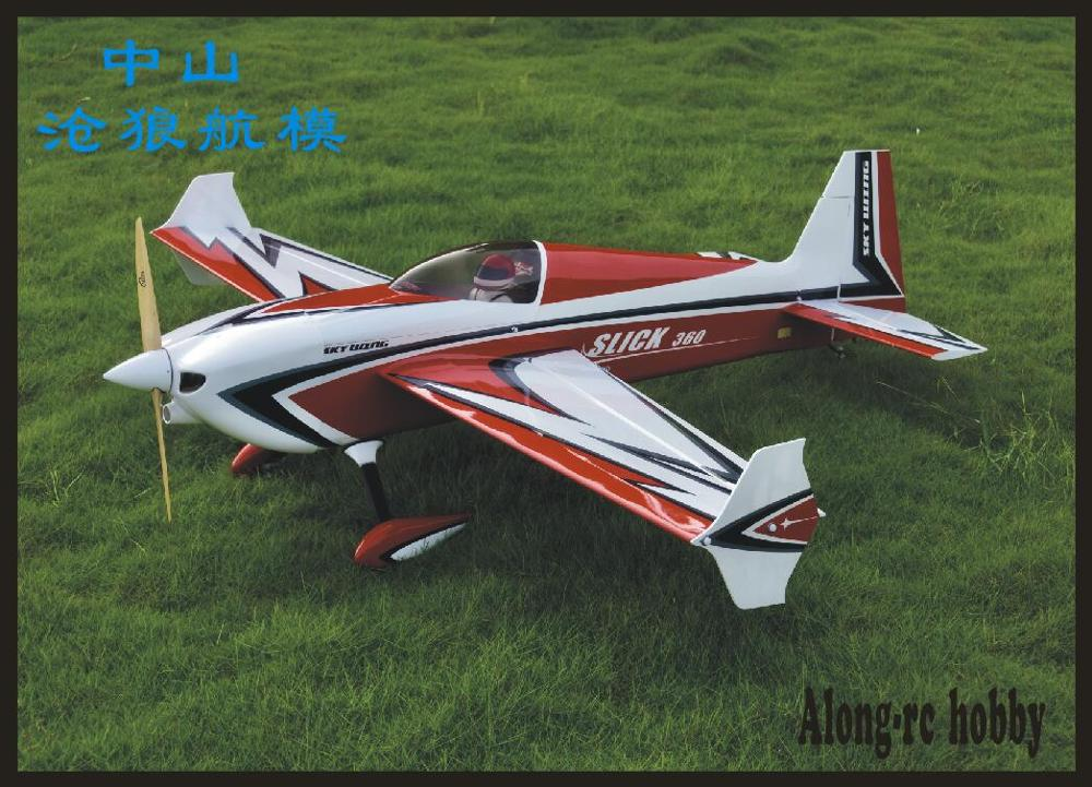 SKYWING wood material PLANE RC 3D plane RC MODEL HOBBY TOYS wingspan 73 120E slick360 35cc 3D EP /GP airplane KIT set image