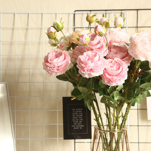 1 Bunch Of Peony Bouquets, Home Decoration Flowers, 3 Flowers, Home Decoration, Wedding Decoration, Artificial Flowers