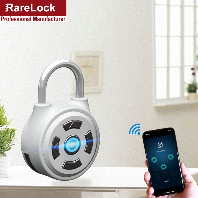 Rarelock Smart Door Padlock Locker Lock Bluetooth Password Mobile Phone APP Travel Bag Cabinet Lock Gym School Padlock LK1012 i