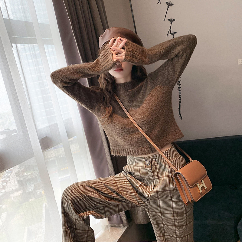 2019 New Autumn And Winter Sweater Two-piece Women's Sweater Set Womens Tops And Blouses  Womens Suits Set 2 Pieces