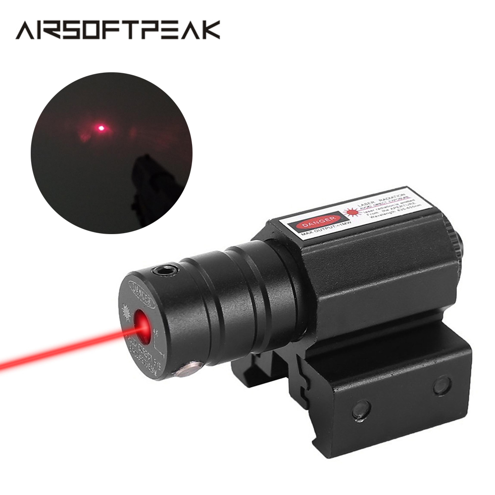Tactical Rifle Red Dot Laser Sight Scope Pistol Weaver Picatinny Mount Set Adjustable 11mm 20mm Rail Airsoft Hunting Accessories