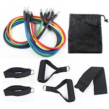 11pcs/set Pull Rope Fitness Exercises Resistance Bands Latex Tubes Pedal Excerciser Body Training Workout Yoga Gym Equipment(China)