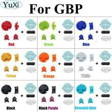 Gumowe przyciski przewodzące YuXi A B D pad dla GameBoy Pocket GBP silikonowy Start wybierz klawiaturę naprawa części i DIY przyciski zestaw