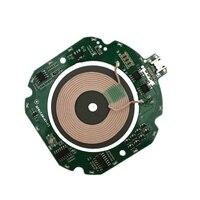 10 w qi rápido módulo de carregador sem fio transmissor pcba placa de circuito + bobina diy carregamento com micro interface usb null     -
