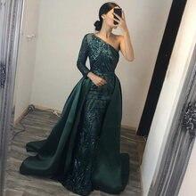 Eightree блестящее вечернее платье на одно плечо со съемным