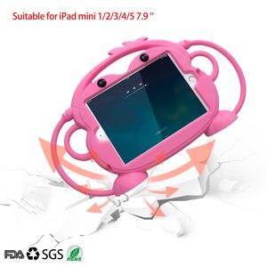 Image 1 - ילד בטיחות Tablet Case עבור iPad mini 1 2 3 4 5 ילד ידידותי לשאת עמיד הלם 7.9in רחיץ Stand סיליקון מקרה עבור iPad 2 3 4