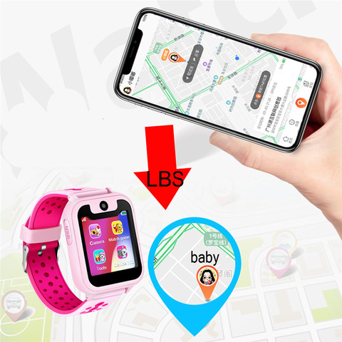 LIGE Kid Smart Watch Boys Girls Baby Watch LBS Position Tracker Phone Answer Children Watch Support for Android ios phones +Box Multan