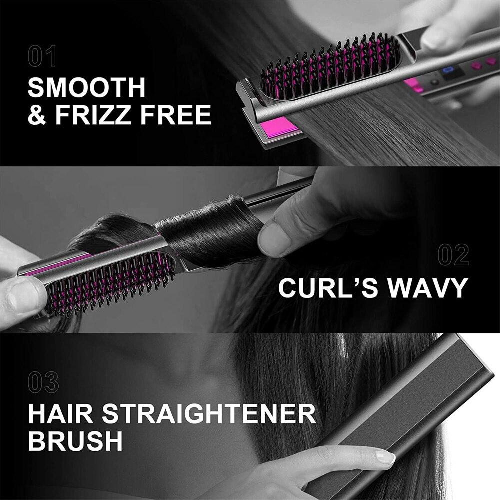 digital dupla tensão plana ferro pente cabelo
