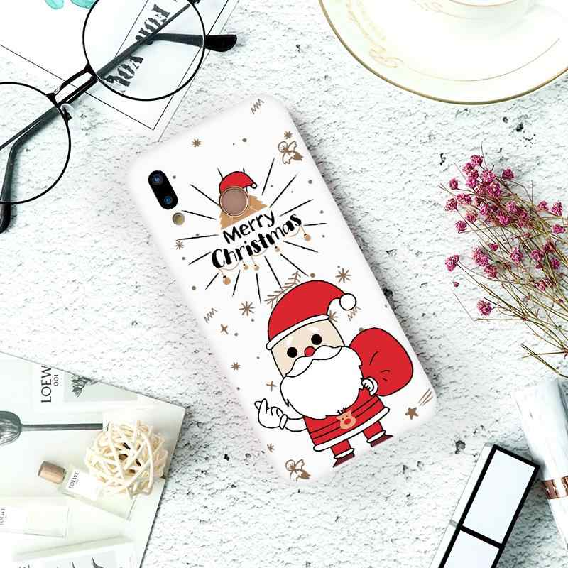 Веселый Чехол для телефона с рождественским рисунком для ТПУ huawei P20 Lite P30 P9 P10 Pro Коврики 10 20 Pro Lite P Smart 2019 Y9 2019 Honor 8X Nova 3 Coque