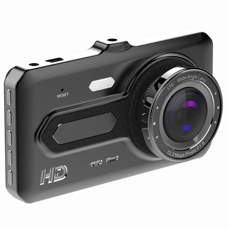 Dash-Camera Recorder G-Sensor Cars Wide-Angle Rear 170-Degree 1080P 4inch For Front And