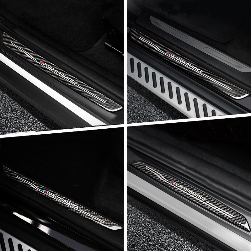 For BMW X5 X6 E70 E71 E84 E90 F10 F15 F16 F20 F30 F32 F34 F25 F26 Car Styling Door Welcome pedal Threshold Bar cover trim strips image