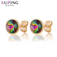 Xuping Jewelry 10*10mm Exquisite Round Design Studs Earrings Colorful Crystals from Swarovski Party Gift Women M84 /M83-20421