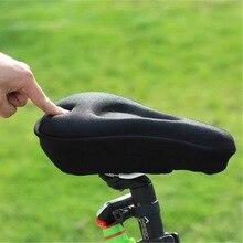 Cómodo thickend suave silicona asiento de bicicleta asiento almohadilla para ciclismo bicicleta asiento funda cojín para accesorios de bicicleta