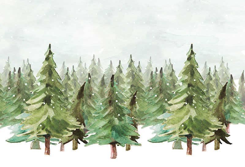 MEHOFOTO Cenários de Fotografia Cenário Decoração da Festa de Aniversário de Natal Fotografia Foto Fundos Árvores do Inverno Do Floco De Neve