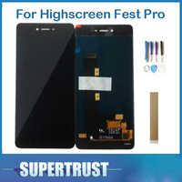 Original Für Highscreen Fest Pro LCD Display + Touch Screen Digitizer Montage Schwarz mit Band & Werkzeug