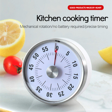 Stainless Steel Mechanical Kitchen Cooking Timer Magnet Round Shape 60 Minutes Countdown Cooking Clock Alarm Time Reminder