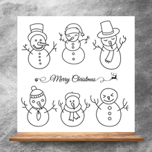 ZhuoAng Hat snowman Clear Stamps/Silicone Transparent Seals for DIY scrapbooking photo album Clear Stamps