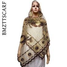 В африканском стиле шарфы маленький Размеры шарф из тюли с Стразы платок для шали Размеры 210*50 см BM643