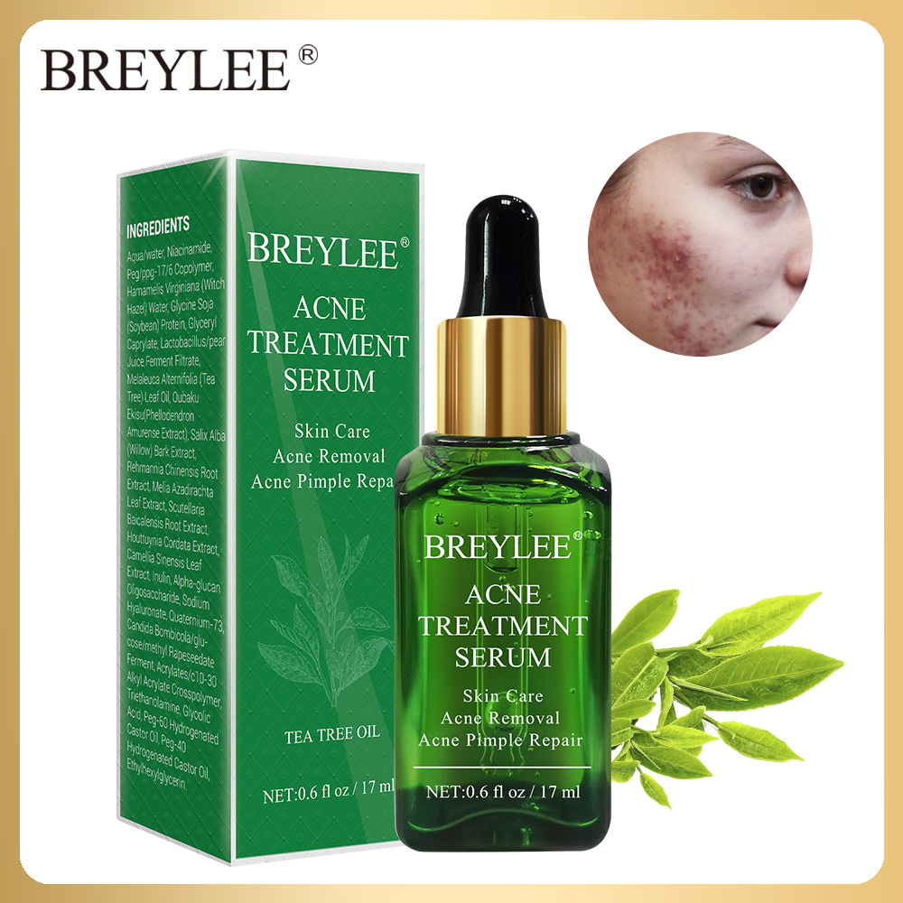 BREYLEE Acne Treatment Serum Face Facial Essence Anti Acne Scar Removal Cream Skin Care Whitening Repair Pimple Remover For Acne