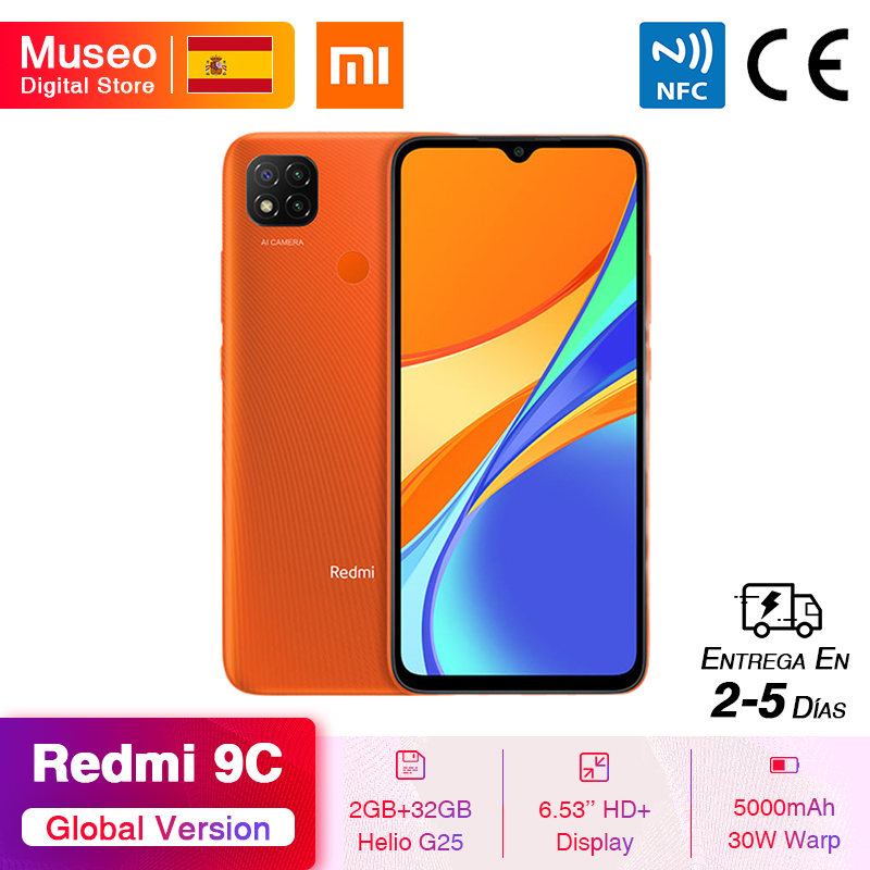"Global Version Xiaomi Redmi 9C Smartphone 6.53"" HD Display Helio G25 Octa Core 5000mAh Battery 13MP AI triple Camera