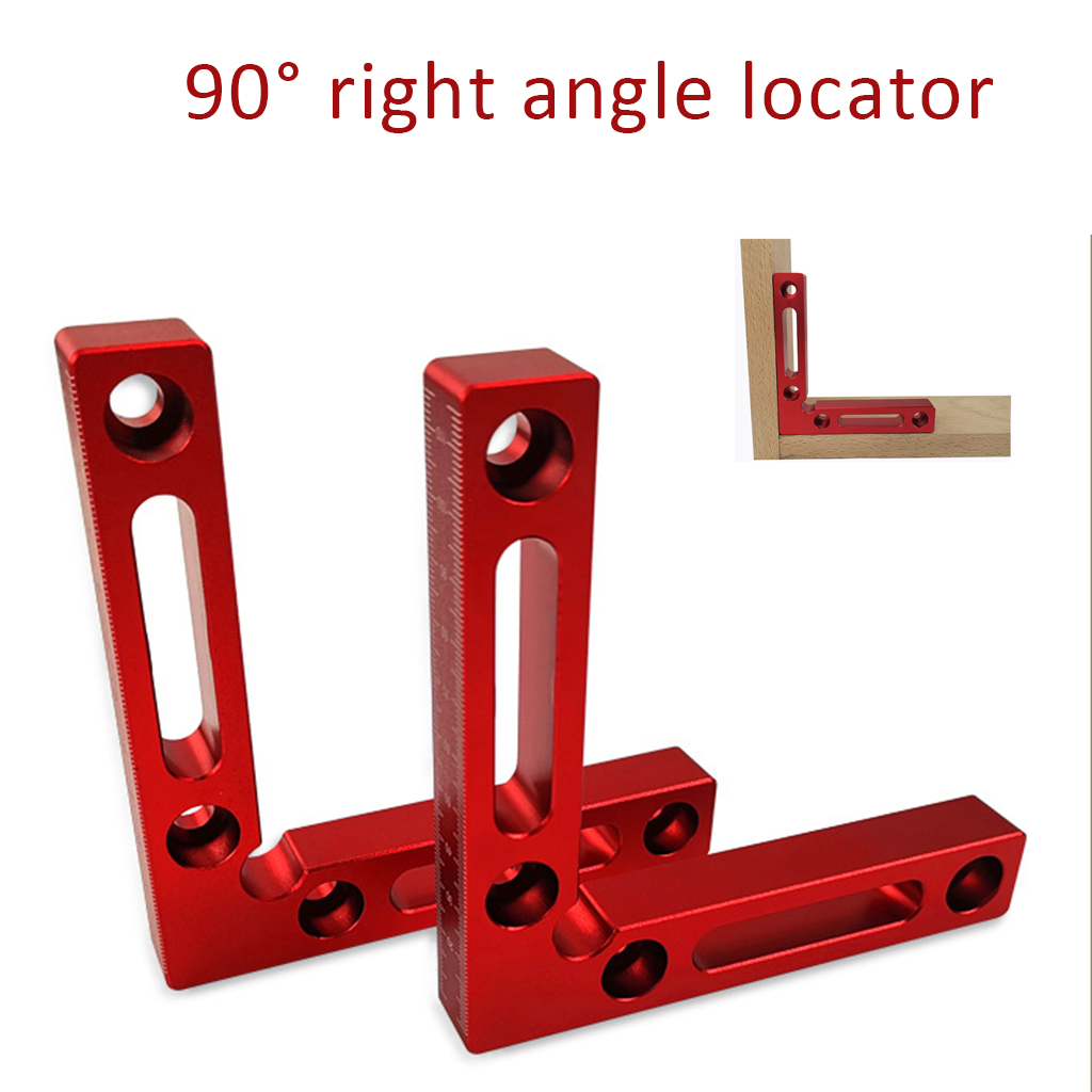 1 Pcs 90 Degree Positioning L Block Square Aluminium Alloy Clamping Square Right Angle Clamp Woodworking Carpenter Tool