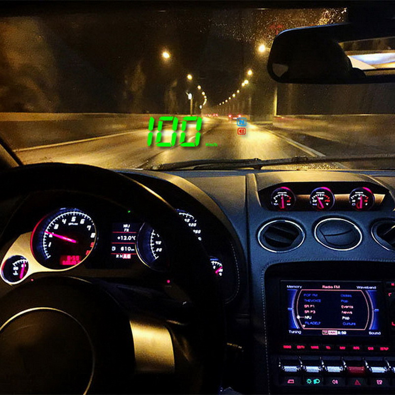 "Car Large Screen 3.5"" GPS Speedometer Digital Car GPS Speed Display Over Speeding Alarm System"