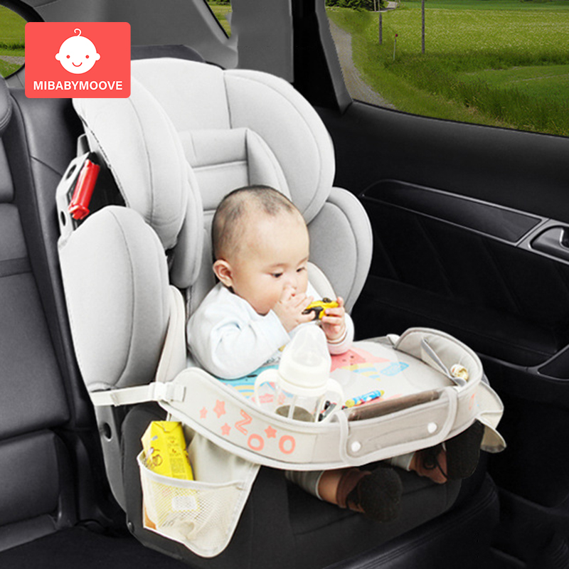 Waterproof Child Baby Car Seat Tray Stroller Kids Toy Infant Car Folding Table Toddler Food Water Holder Desk In-car Accessories