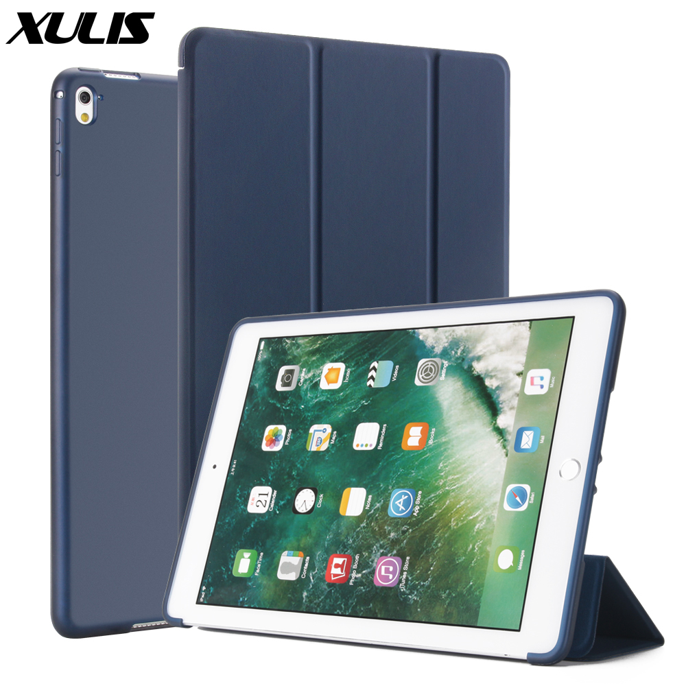 For iPad Pro 9.7 Case 2016 A1673/A1674 Smart Cover Trifold Stand Shockproof Case for Apple iPad Pro 9.7 inch Case PU Leather(China)