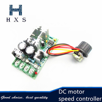 DC 400W 10A Adjustable DC Motor speed controller PWM controller 13kHz unit adjustable module 12V 24V 36V 48V image