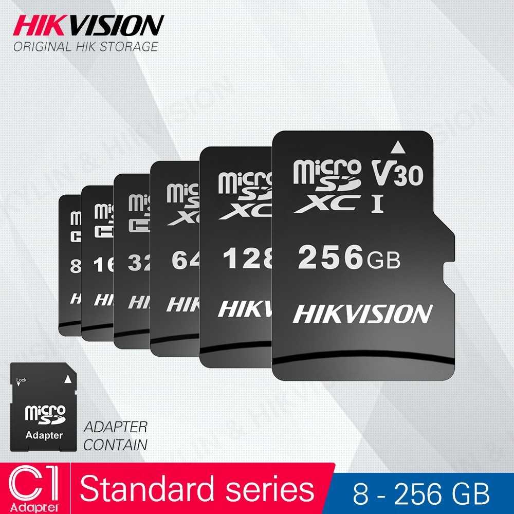 HIKVISION 100% оригинальная Micro SD карта класс 10 8 ГБ 16 ГБ 32 ГБ 64 Гб 128 ГБ 256 ГБ с адаптером MicroSDHC/XC UHS-I карта памяти TF # C1