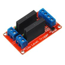 Two-Way Solid State Relay Module High/Low Level With Fuse Signal Trigger Output Resistive 240V/2A