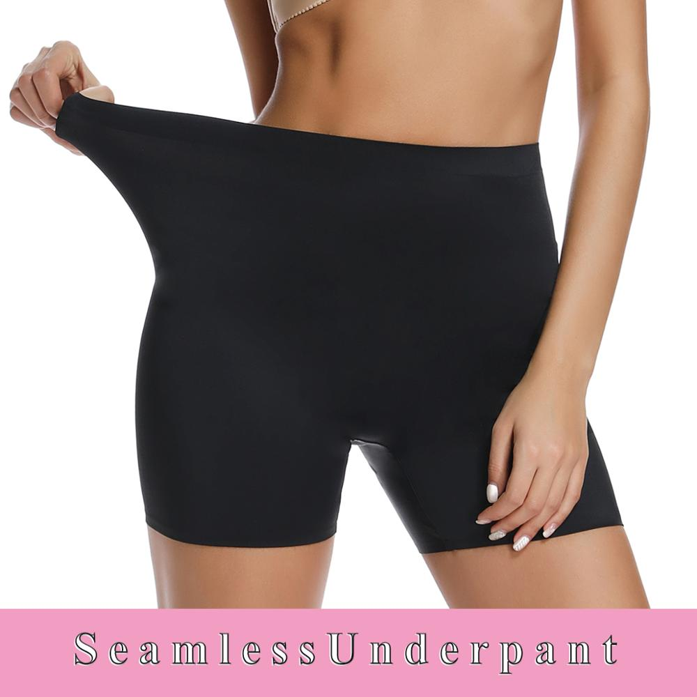 Women Underpants Seamless Underwear Safety Short Pants Boxer Femme High Waist Briefs Sexy Panties Slim Shapewear Ladies Knickers