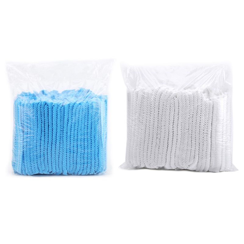 Disposable Bouffant Caps Hair Head Cover Net Non-Woven Medical Labs Food Service