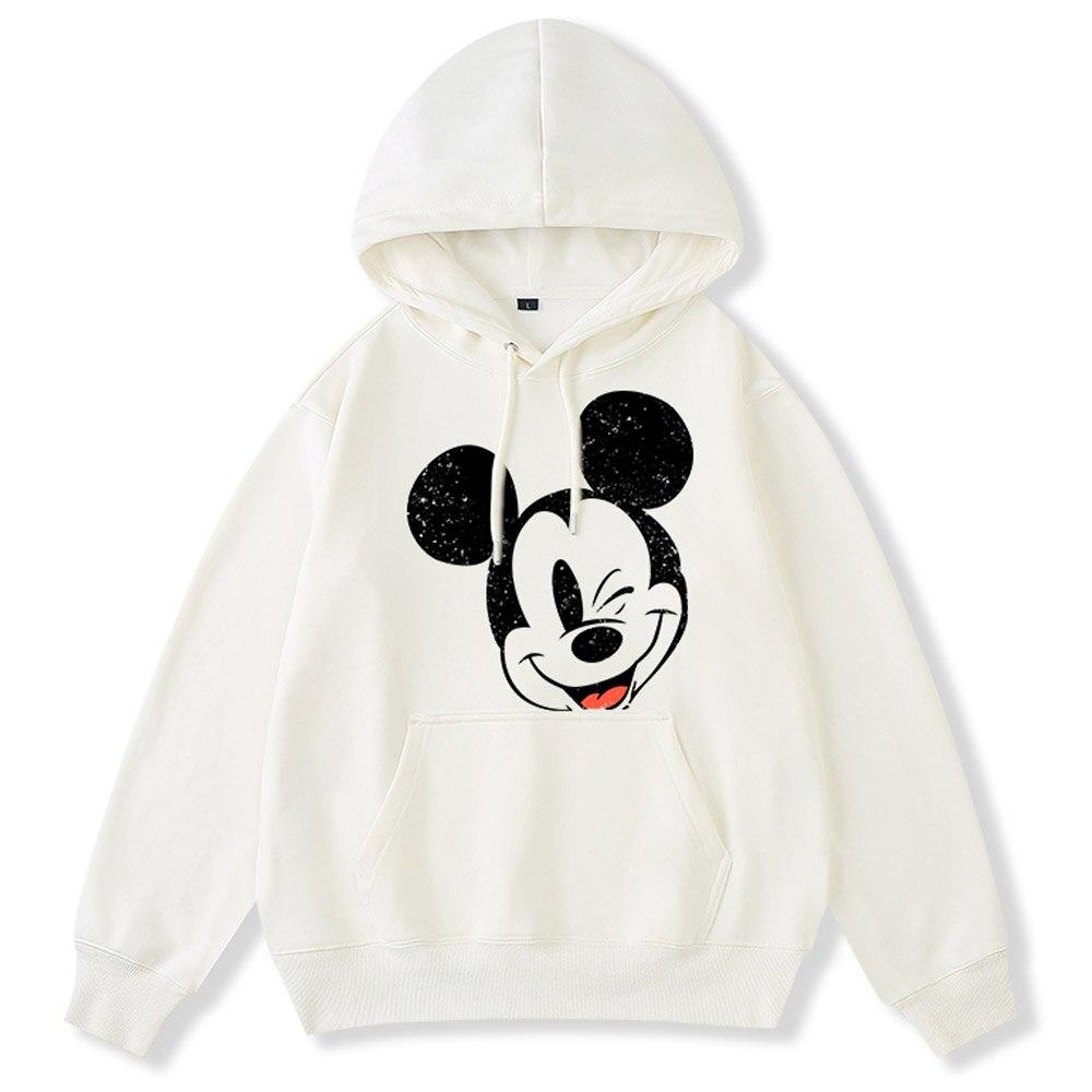 Mickey Mouse Cartoon Pop Art Sweat-shirt Unisexe Fête Gris Pull S-3XL