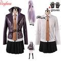 Женский костюм для косплея Danganronpa Dangan-Ronpa Kyoko Kirigiri, костюм с перчатками, костюм для Хэллоуина и галстук-рубашка для парика
