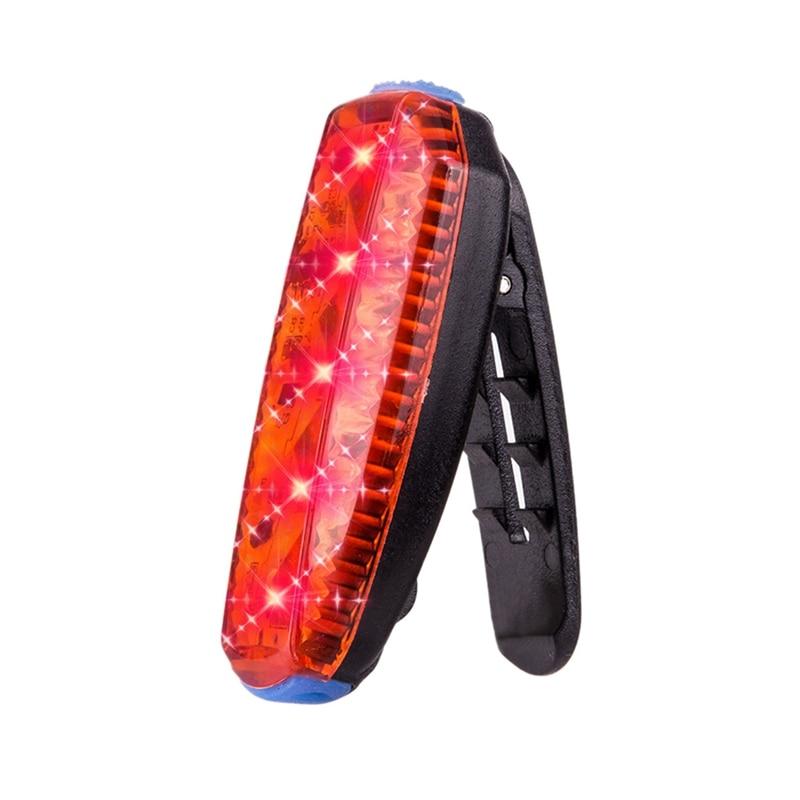 Led Bike Tail Light Running Clip Bag Light Usb Waterproof Warning Light Outdoor Sports Road Bike Bicycle Lamp