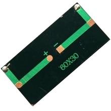5 в 50 мА мини солнечная батарея Diy Солнечная Панель зарядное устройство для 3,7 в батарея игрушка панель Обучающие наборы 60x30 мм 10 шт