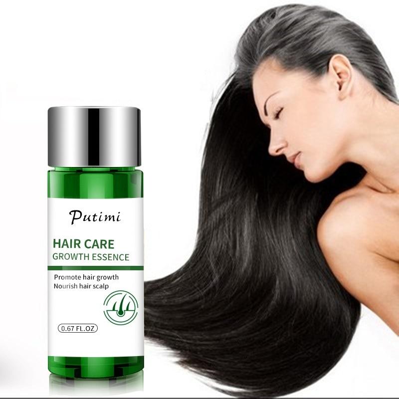 PUTIMI Nourishing Hair Growth Serum Women Men Prevent Hair Loss Products Effective Growing Hair Repair Care Treatment 20ml