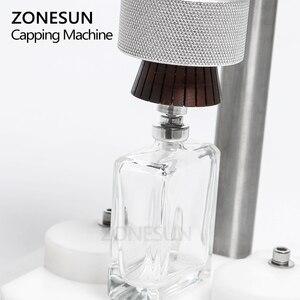 Image 3 - ZONESUN Manual Crimping Machine Perfume Crimper Capper Metal Collar Cap Press Capping Machine Spray Crimper