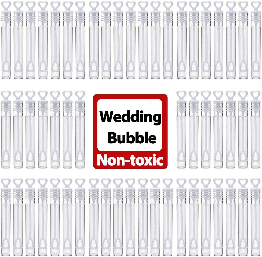 Wedding Soap Bubble (contain 0.2oz Soap) White Heart Design Water Bubble Soap Bottle Valentine's Day Birthday Wedding Decoration