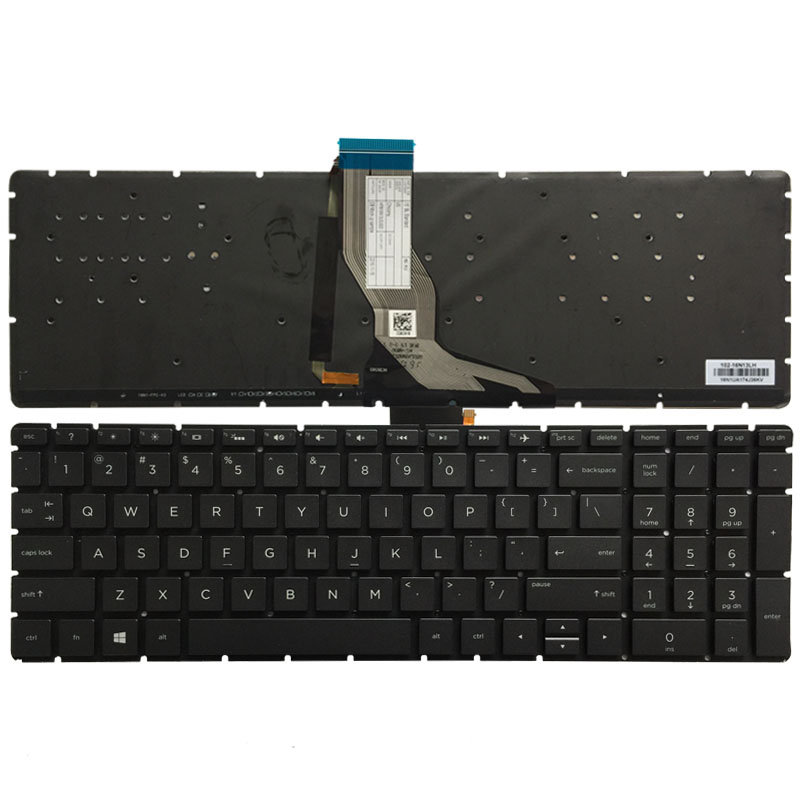 US laptop <font><b>keyboard</b></font> for <font><b>HP</b></font> 15-BS 15-CD <font><b>250</b></font> <font><b>G6</b></font> 255 <font><b>G6</b></font> 256 <font><b>G6</b></font>(only <font><b>keyboard</b></font>) English backlit <font><b>keyboard</b></font> image