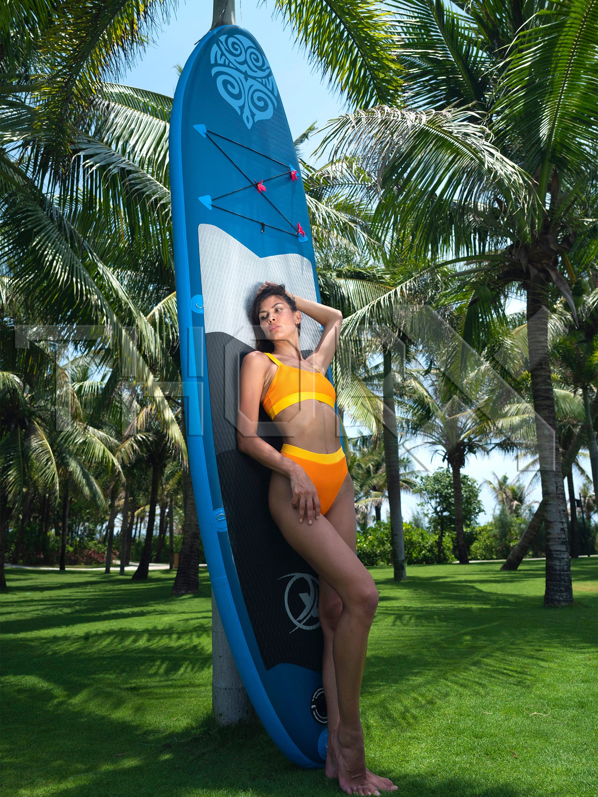 SUP330 330x76x15 см, надувная SUP доска. Доска для серфинга, сумка, весло, плавник, насос, ремонтный комплект, поводок для ноги.