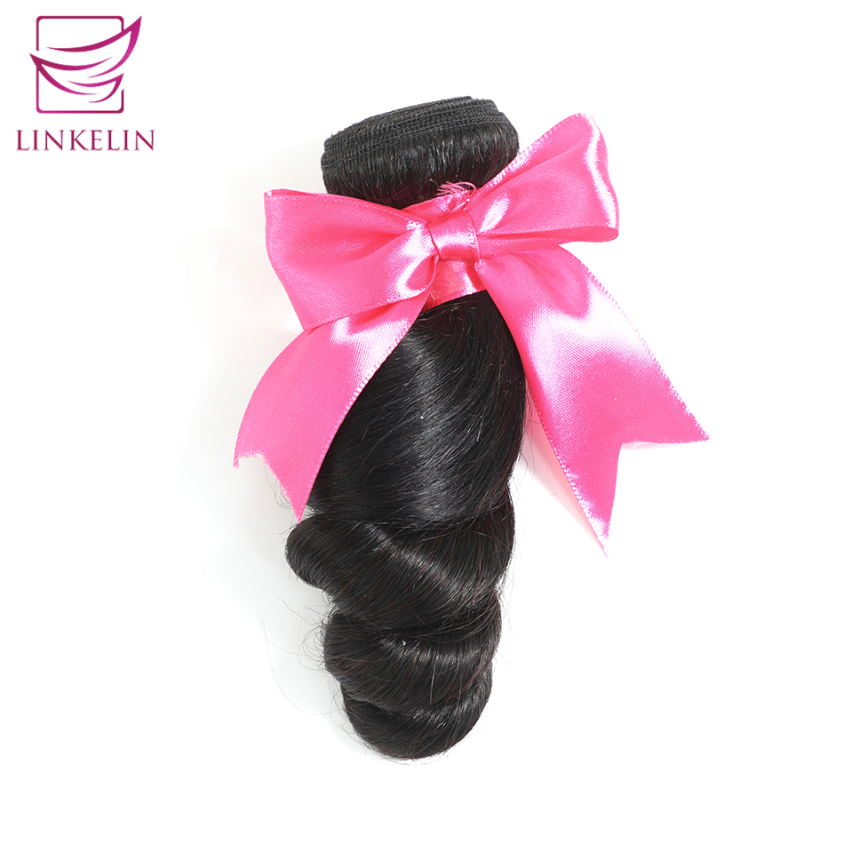 LINKELIN HAIR Brazilian Loose Wave 100% Human Hair Bundles Remy Hair Extension Nature Color Free Shipping Can Be Dyed