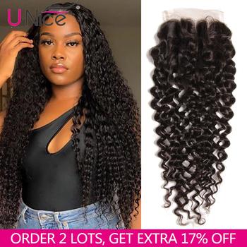 UNICE włosy peruwiański kręcone włosy zamknięcie trzy część ludzkie włosy o poziomie gęstości 150 obramówka peruki naturalne kolorowe włosy typu Remy 10-20 cal tanie i dobre opinie Remy włosy 4 x 4 Peruwiański włosów Ręka wiążący Swiss koronki Wszystkie kolory 1 sztuka tylko Średni brąz Pure color