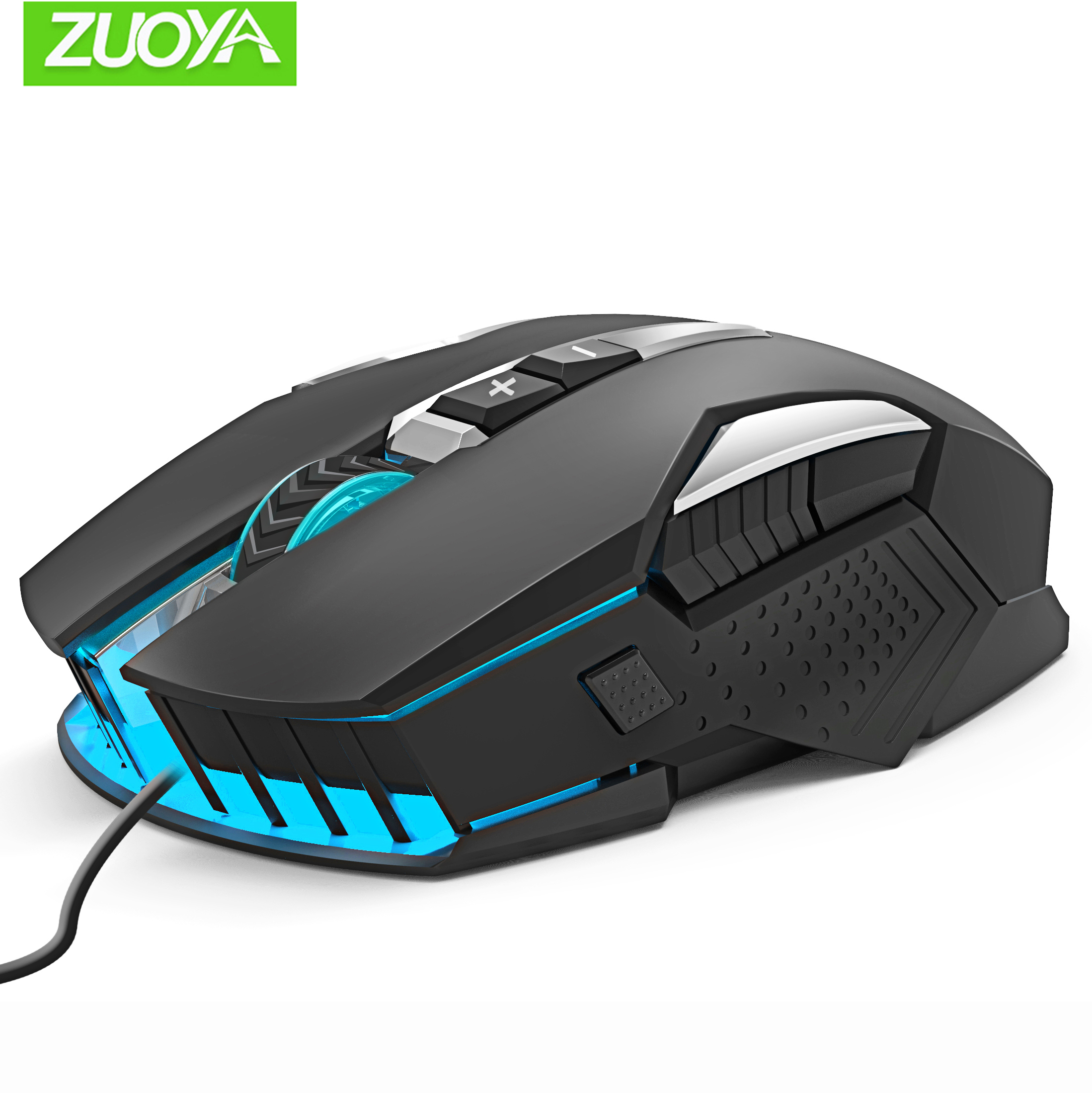 ZUOYA Gaming Mouse DPI Adjustable Wired Mouse USB Optical LED Computer Mice for Laptop PC Game Professional Gamer title=
