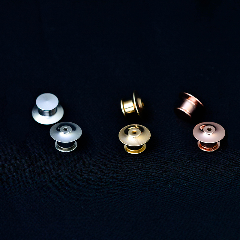 Metal Brooch Pin Back Locking Keepers Secure Locking Clutch Deluxe Pin BacK Badge Pendants for DIY Jewelry