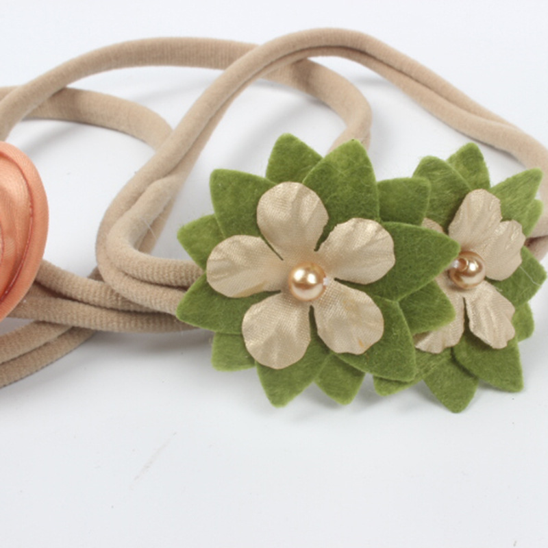simples multi tecidos flores bandas de borracha