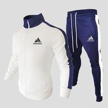 Chándal de ropa deportiva para hombre, chaqueta informal con cremallera, ropa deportiva y pantalones, conjuntos para hombres