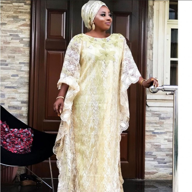 Lace Long Maxi Dress African Dresses For Women Dashiki Summer Plus Size Dress Ladies Traditional African Clothing Fairy Dreess
